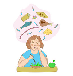 stress and diet vector image