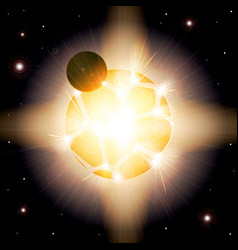 Supernova the explosion of the planet armageddon vector