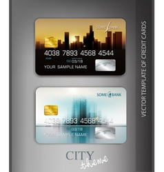 template credit cards with modern design vector image