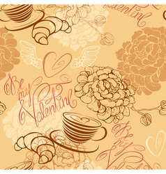 Valentines Day background - seamless pattern vector
