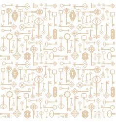 Vintage keys seamless pattern background for vector