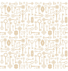 vintage keys seamless pattern background vector image