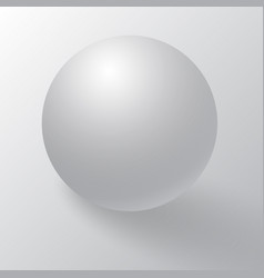 white sphere ball or orb vector image
