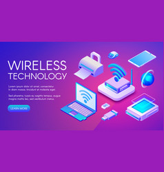 Wireless technology devices vector