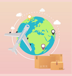 World wide delivery a world vector
