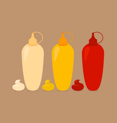 bottles with sauses vector image