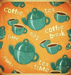 coffee break retro vector image
