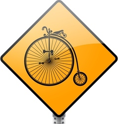 Penny Farthing Bicycle Sign vector image