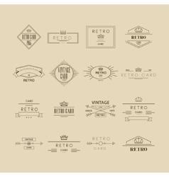 Retro Labels Set vector image