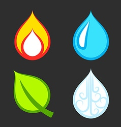 The Four Elements Set vector image