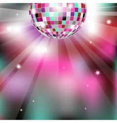 Background with disco ball eps10 vector image