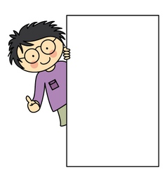 Child with a frame vector image vector image