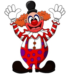 cute clown cartoon vector image vector image