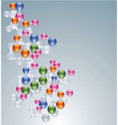 molecules vector image