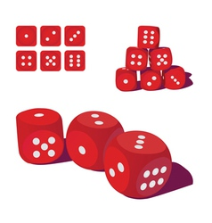 Playing dice vector image