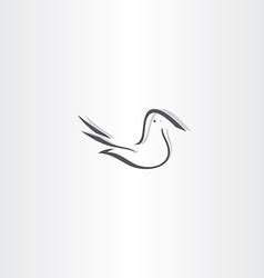stylized dove icon design element vector image vector image