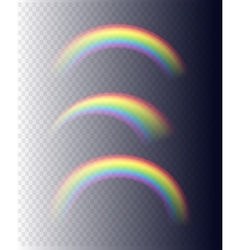 Transparent Rainbows in Different Shapes vector image vector image