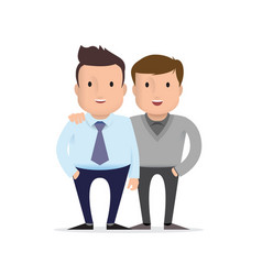 two friends friendship adult guys vector image