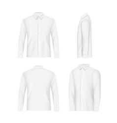 white mens shirt mockup set realistic vector image vector image