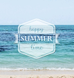 Happy Summer Time Poster vector image vector image