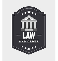 justice and law design vector image vector image