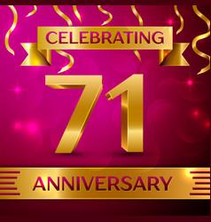 seventy one years anniversary celebration design vector image