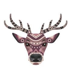 deer head logo decorative emblem vector image