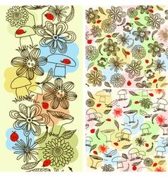 Floral Doodle Background vector image vector image