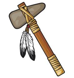 Native american tomahawk vector image vector image