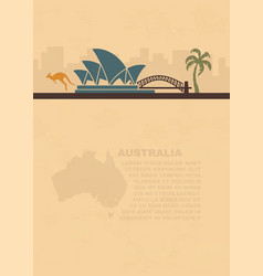 template leaflets with a map and symbols of the vector image