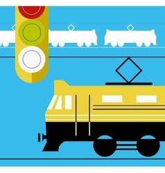 Train station vector image
