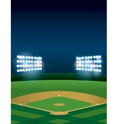Vertical Baseball Stadium vector image