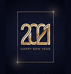 2021 happy new year greeting card template with vector image