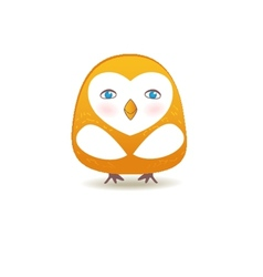 a funny character owl vector image vector image