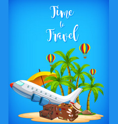 a travel time logo with element vector image