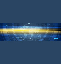 Abstract technology glowing web header design vector