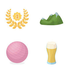 Alcohol sports and other web icon in cartoon vector