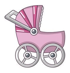 baby carriage big icon cartoon style vector image