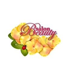 Beauty salon identity naturalistic hydrangea vector