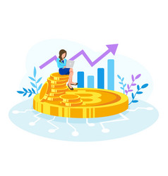 bitcoin financial vector image
