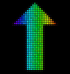 Bright dotted arrow icon vector