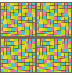 Bright mosaic seamless pattern vector