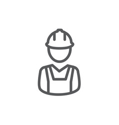 builder line icon on white background vector image