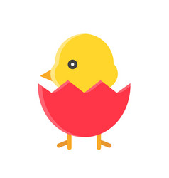 Chick isolated spring season flat icon vector
