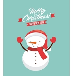 christmas holiday design vector image