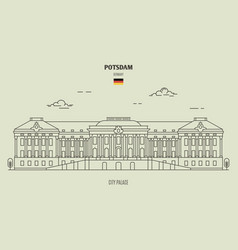 City palace in potsdam vector