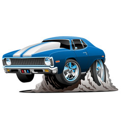 classic american muscle car cartoon vector image