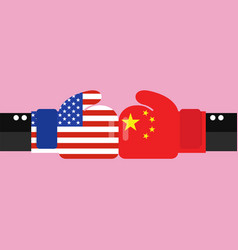 conflict between usa and china vector image