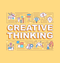 creative thinking word concepts banner vector image