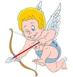 cute cartoon cupid vector image
